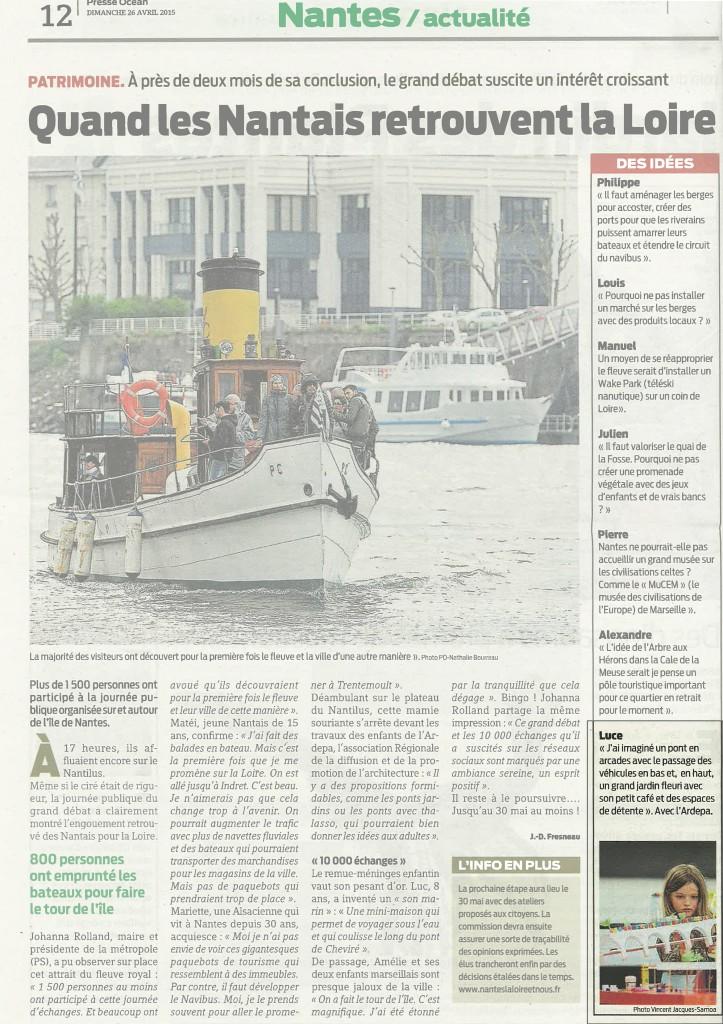 Presse Océan - 26 avril 2015