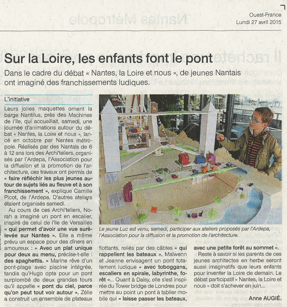 Ouest France - 27 avril 2015