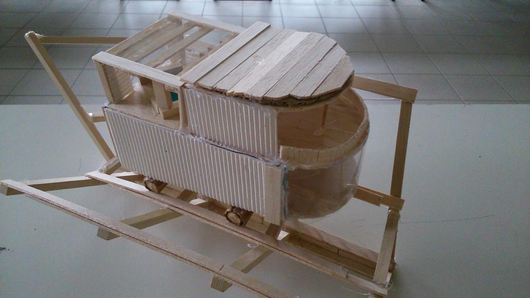 ardepa, collège Pierre Abélard, architecture, maquette, habitat nomade