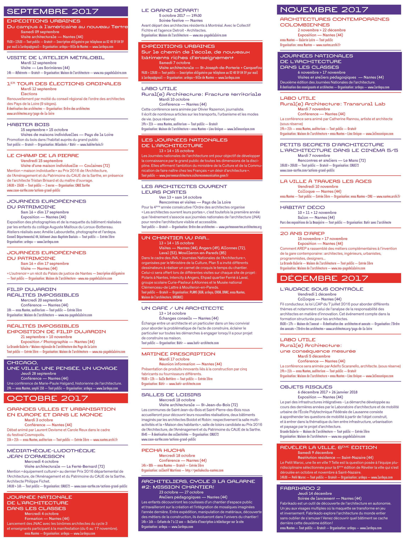 calendrier ardepa et partenaires 2017