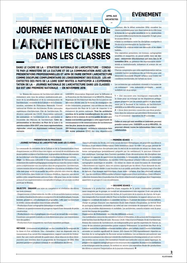 appel aux architectes platforms