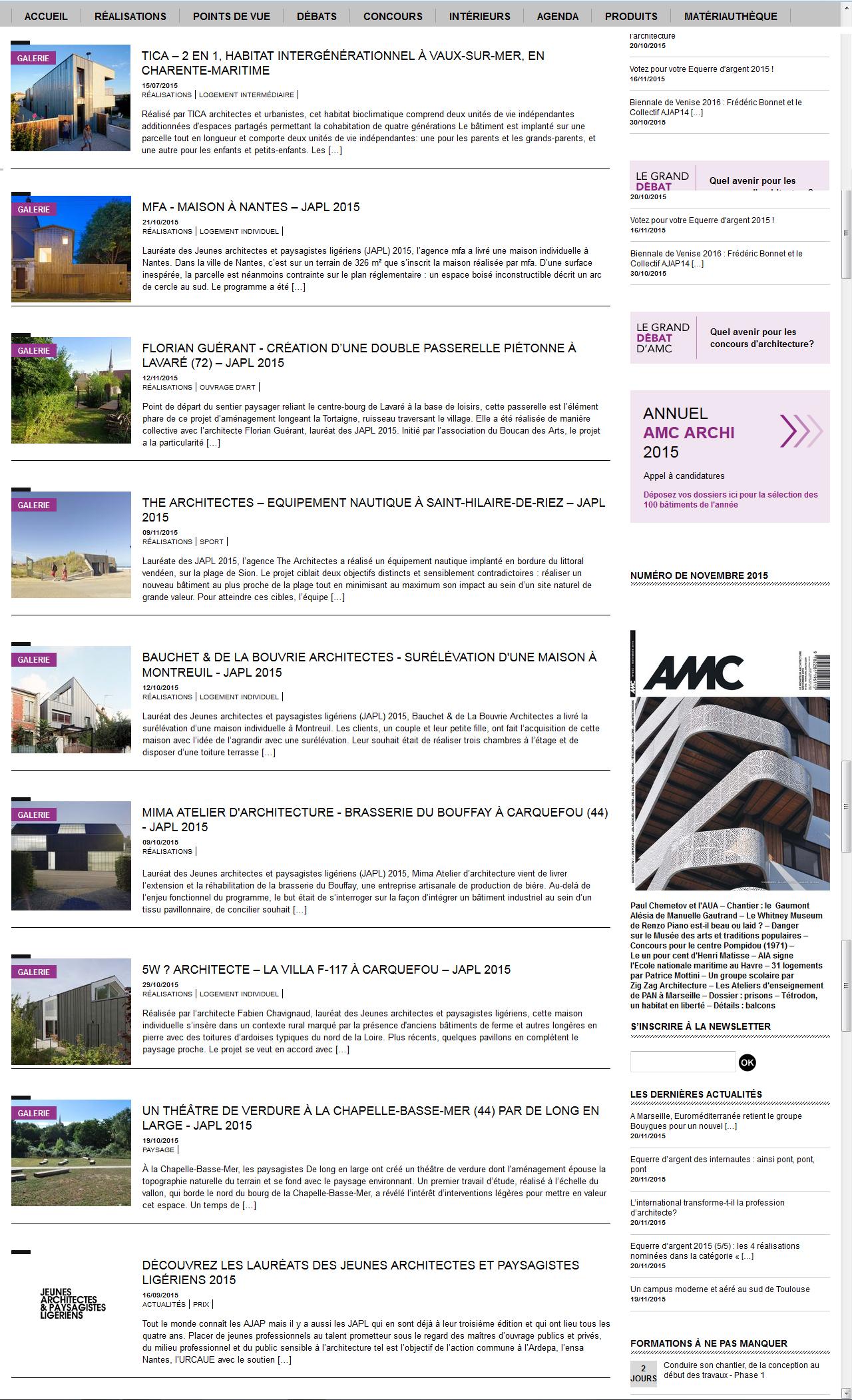 JAPL– Articles spécifiques à chaque projets - AMC - 12/11/2015