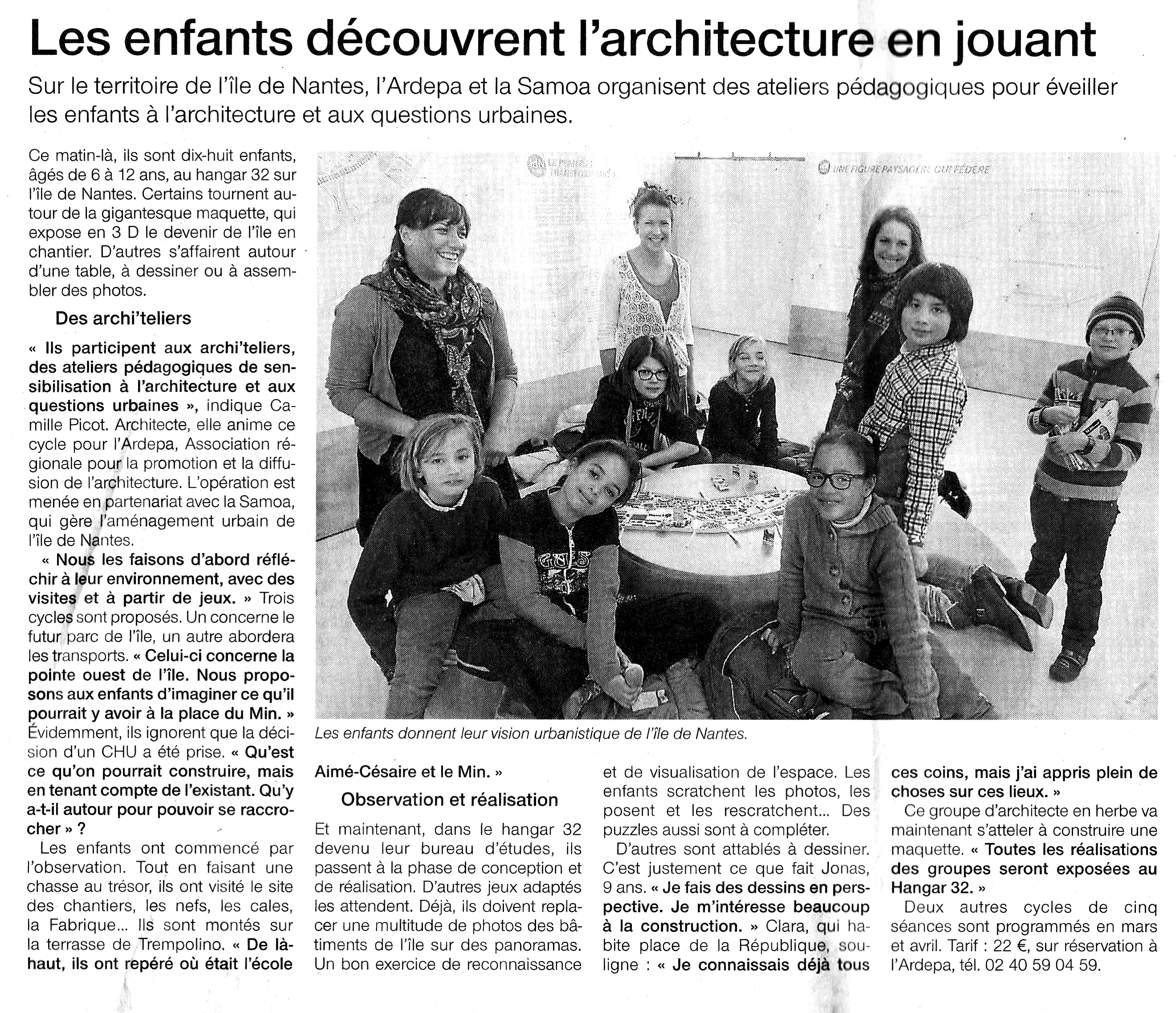 ardepa archi'teliers OuestFrance 13/11/2013