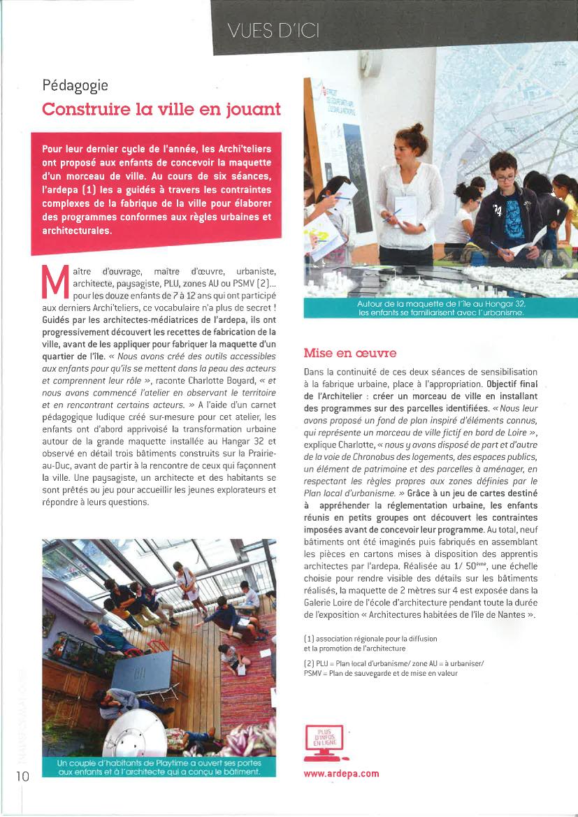 Magazine Île de Nantes - archi'teliers