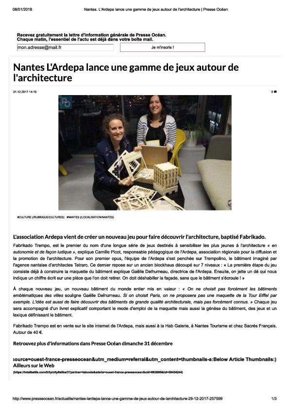 ardepa architecture jeu fabrikado presse océan 12/2017