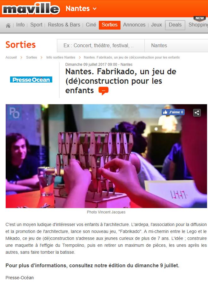 ardepa architecture jeu fabrikado nantes maville 07/2017