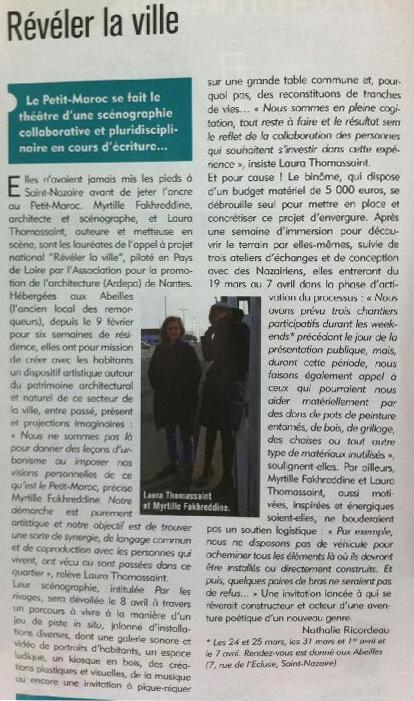 article scenographie résidence archietcture ardepa saint nazaire petit maroc