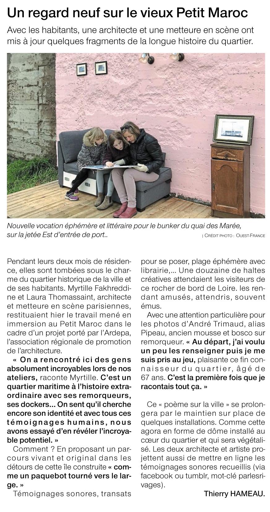 article ouest france résidence archietcture ardepa saint nazaire petit maroc