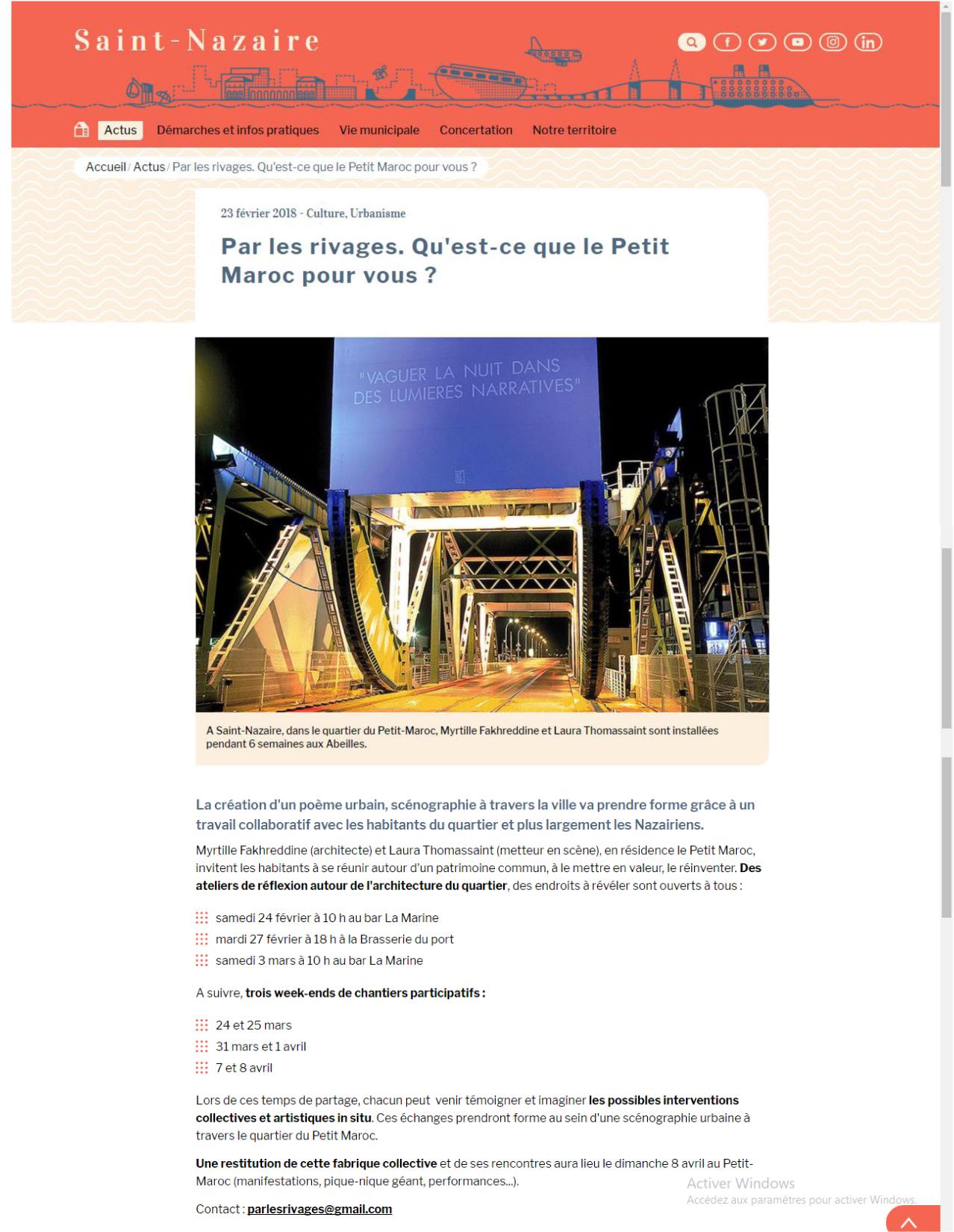 site internet de la ville résidence architecture ardepa saint nazaire petit maroc