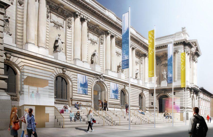 Musee d'arts de Nantes, reouverture juin 2017. esquisse © Stanton-Williams