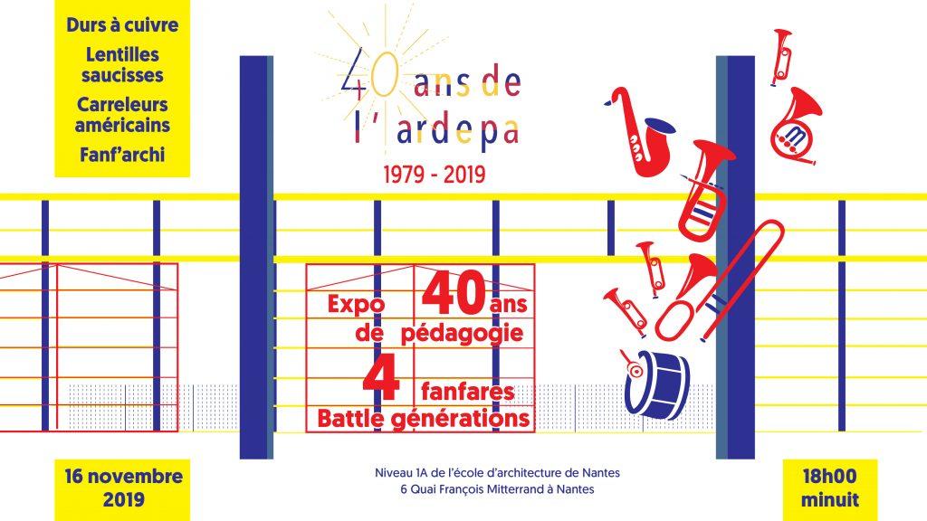 association régionale promotion diffusion architecture ardepa 40 ans 1979 2019
