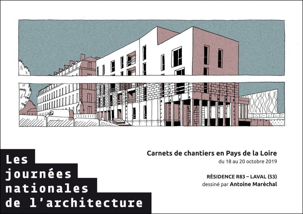 carnets de chantier 2019 plan 5 visite de chantier journées nationales de l'architecture 53