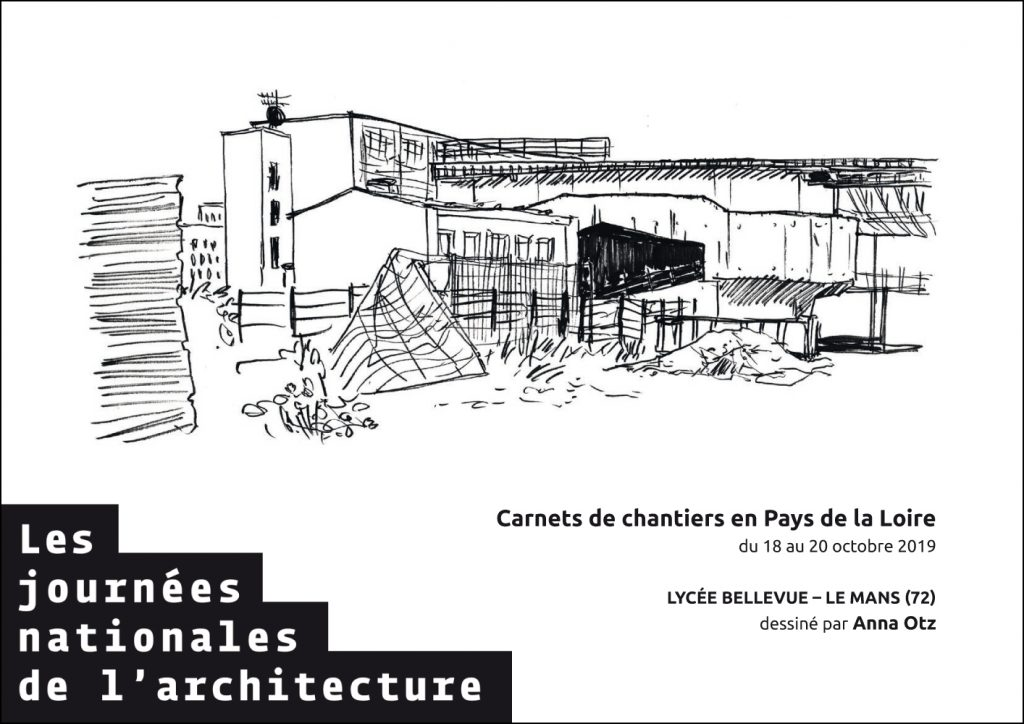 carnets de chantier 2019 plan 5 visite de chantier journées nationales de l'architecture 72