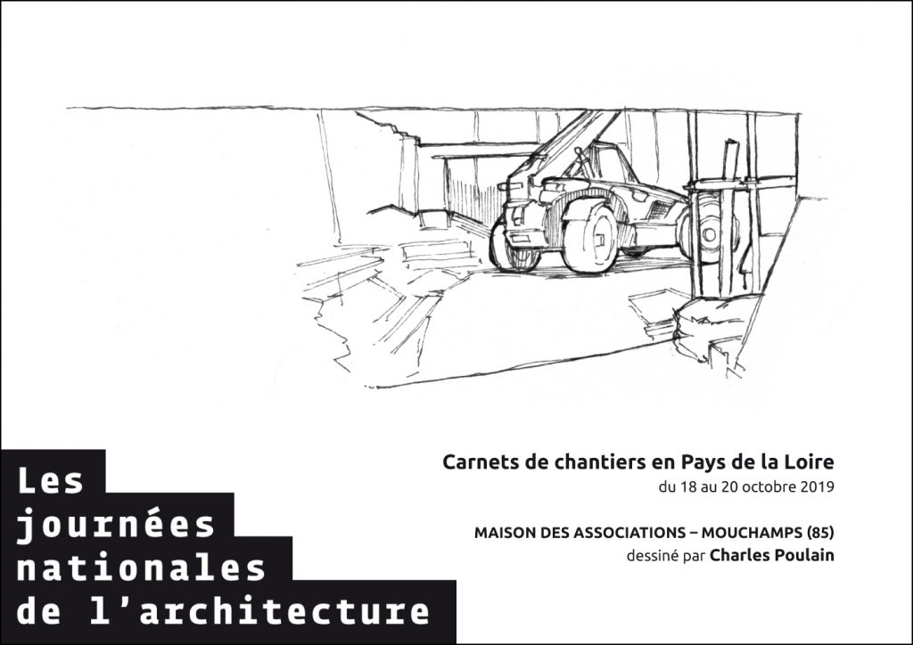 carnets de chantier 2019 plan 5 visite de chantier journées nationales de l'architecture 85