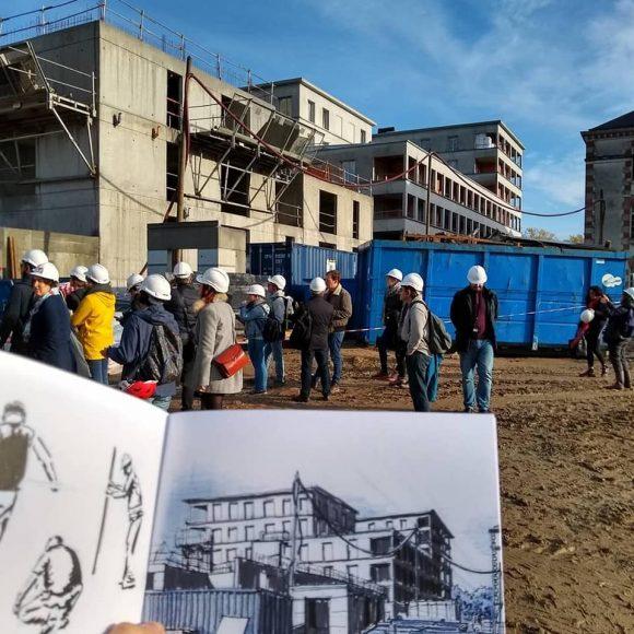 visite chantier 2019 caserne mellinet 1