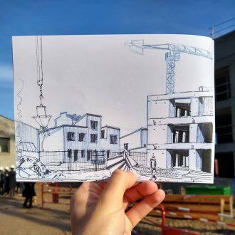 visite chantier journées de l'architecture 2019 caserne mellinet hameau chapuis