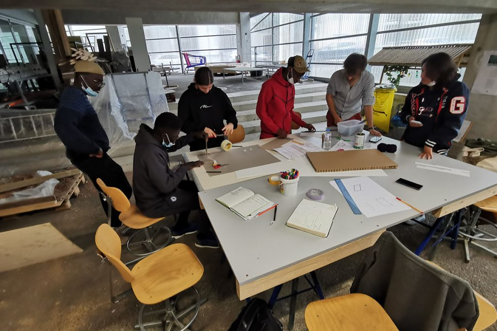ardepa collectif à côté centre accoord malakoff 16-25 chantier jeune à l'aécole d'architecture 10